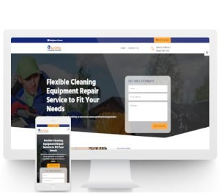 Equipment Repair Brochure Website